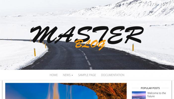 پیش نمایش دسکتاپ قالب وردپرس Master Blog