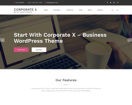 دانلود رایگان قالب وردپرس Corporate X