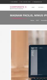 پیش نمایش موبایل قالب وردپرس Corporate X