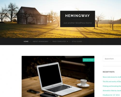 دانلود رایگان قالب وردپرس Hemingway