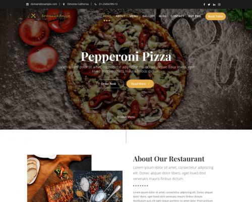 دانلود رایگان قالب وردپرس Restaurant Recipe