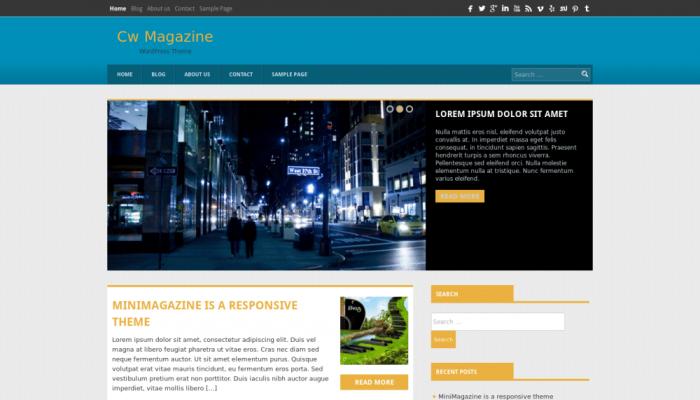 پیش نمایش دسکتاپ قالب وردپرس Magazine