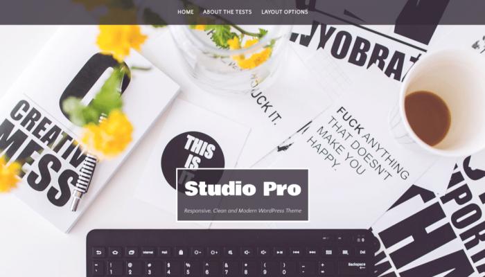 پیش نمایش دسکتاپ قالب وردپرس Studio