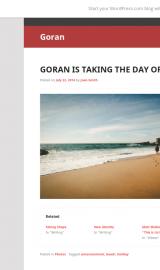 پیش نمایش موبایل قالب وردپرس Goran (CT of Edin)