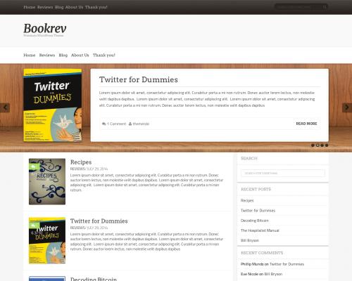 دانلود رایگان قالب وردپرس BookRev Lite
