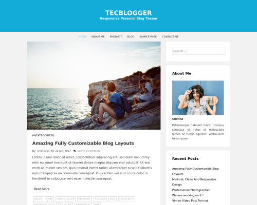 دانلود رایگان قالب وردپرس Tecblogger