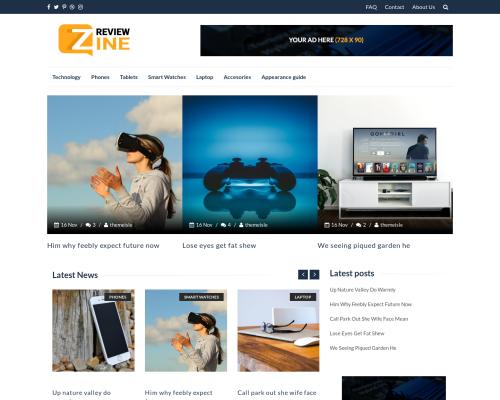 دانلود رایگان قالب وردپرس ReviewZine