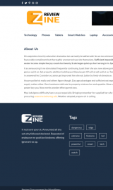 پیش نمایش موبایل قالب وردپرس ReviewZine