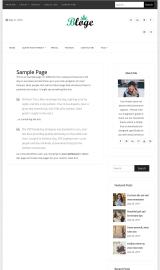 پیش نمایش موبایل قالب وردپرس Bloge