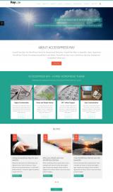 پیش نمایش موبایل قالب وردپرس AccessPress Ray