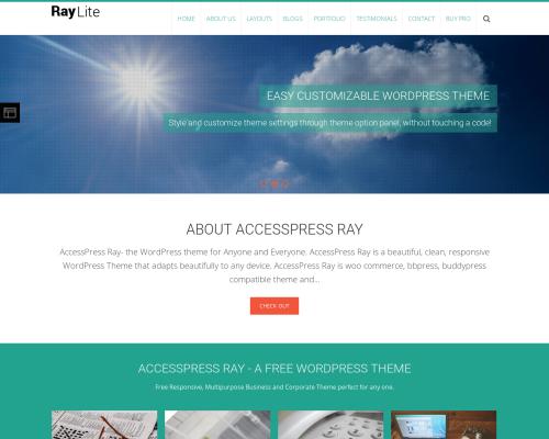 دانلود رایگان قالب وردپرس AccessPress Ray