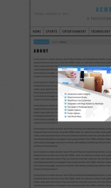 پیش نمایش موبایل قالب وردپرس AcmeBlog