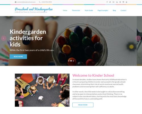 دانلود رایگان قالب وردپرس Preschool and Kindergarten
