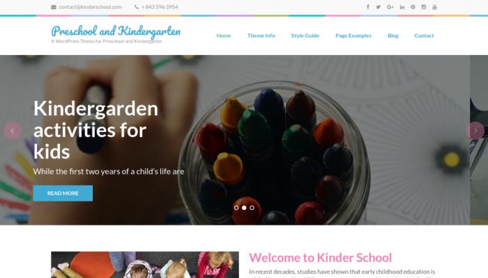 پیش نمایش دسکتاپ قالب وردپرس Preschool and Kindergarten