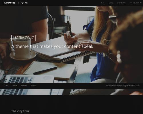دانلود رایگان قالب وردپرس Harmonic