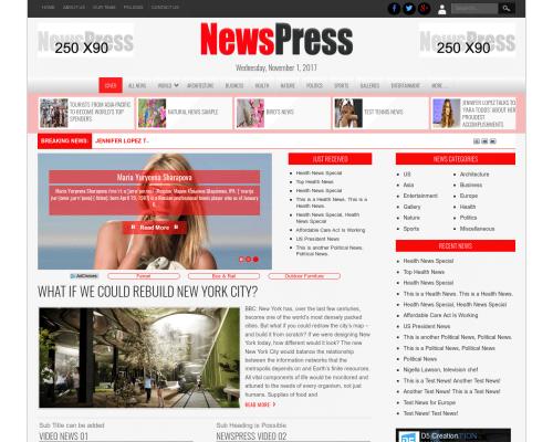دانلود رایگان قالب وردپرس NewsPress
