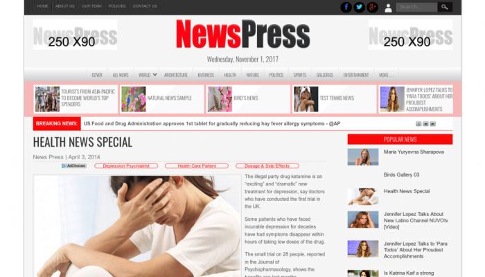پیش نمایش دسکتاپ قالب وردپرس NewsPress