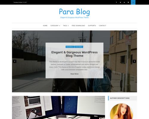 دانلود رایگان قالب وردپرس Para Blog