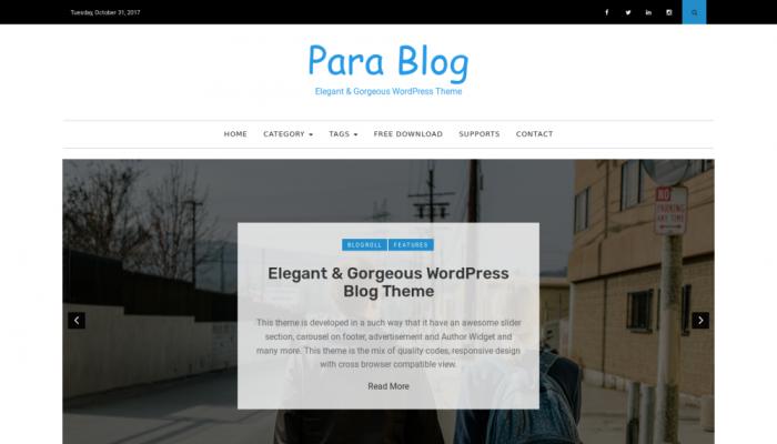 پیش نمایش دسکتاپ قالب وردپرس Para Blog