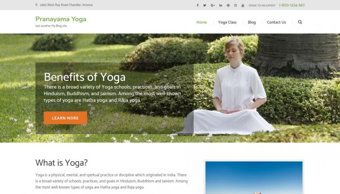 پیش نمایش دسکتاپ قالب وردپرس Pranayama Yoga