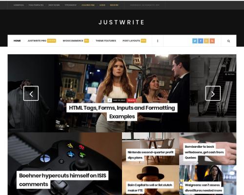 دانلود رایگان قالب وردپرس JustWrite