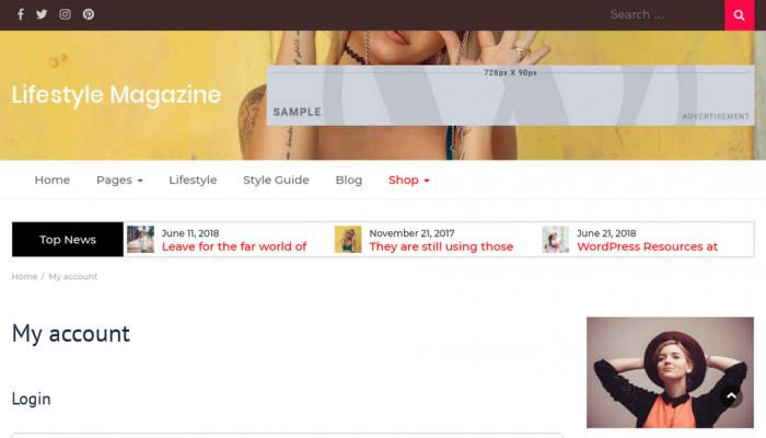 پیش نمایش دسکتاپ قالب وردپرس Lifestyle Magazine