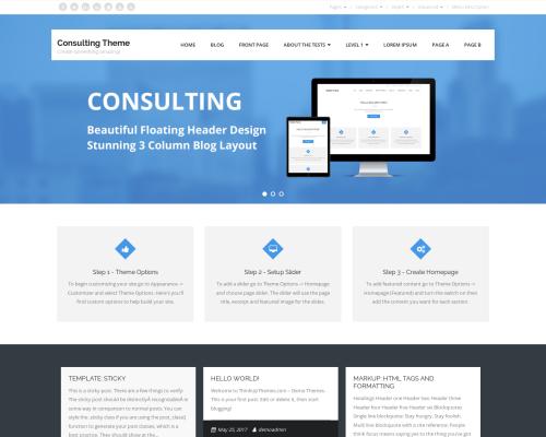 دانلود رایگان قالب وردپرس Consulting