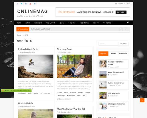 دانلود رایگان قالب وردپرس OnlineMag