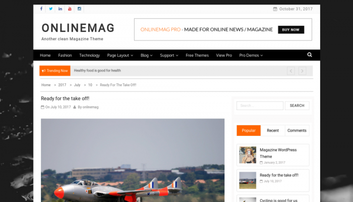 پیش نمایش دسکتاپ قالب وردپرس OnlineMag