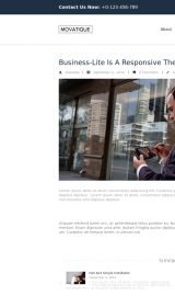پیش نمایش موبایل قالب وردپرس Business Lite