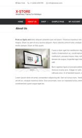 پیش نمایش موبایل قالب وردپرس x-Store