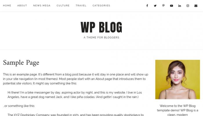 پیش نمایش دسکتاپ قالب وردپرس WP Blog