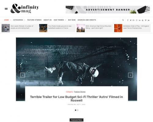 دانلود رایگان قالب وردپرس Infinity Mag