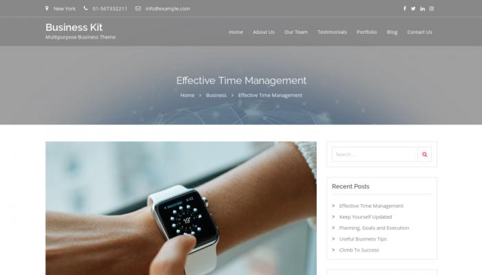پیش نمایش دسکتاپ قالب وردپرس Business Kit