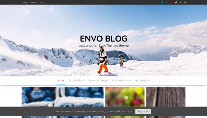 پیش نمایش دسکتاپ قالب وردپرس Envo Blog