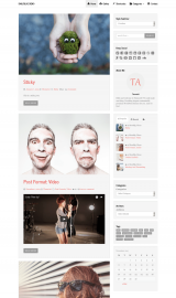 پیش نمایش موبایل قالب وردپرس TA DailyBlog