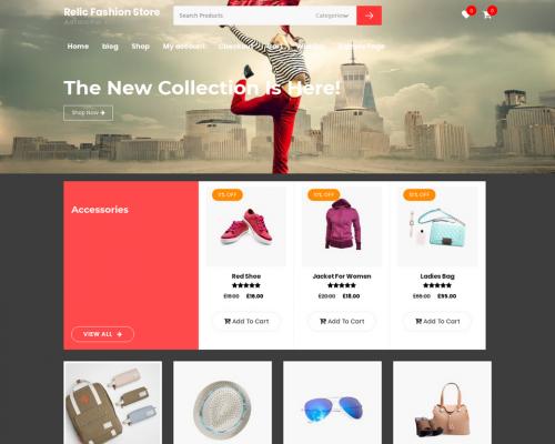 دانلود رایگان قالب وردپرس Relic Fashion Store