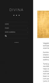 پیش نمایش موبایل قالب وردپرس Divina