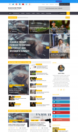 پیش نمایش موبایل قالب وردپرس Magazine Prime