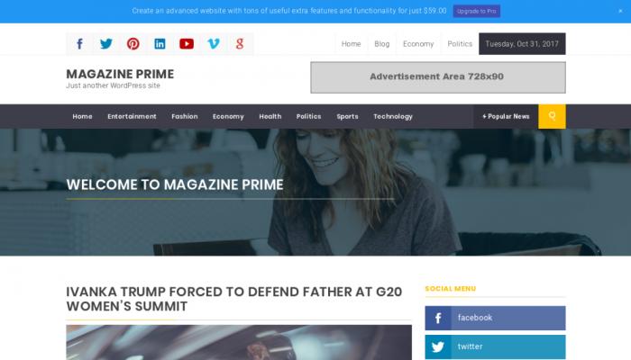 پیش نمایش دسکتاپ قالب وردپرس Magazine Prime