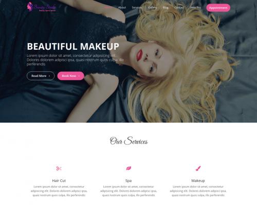 دانلود رایگان قالب وردپرس Beauty Studio