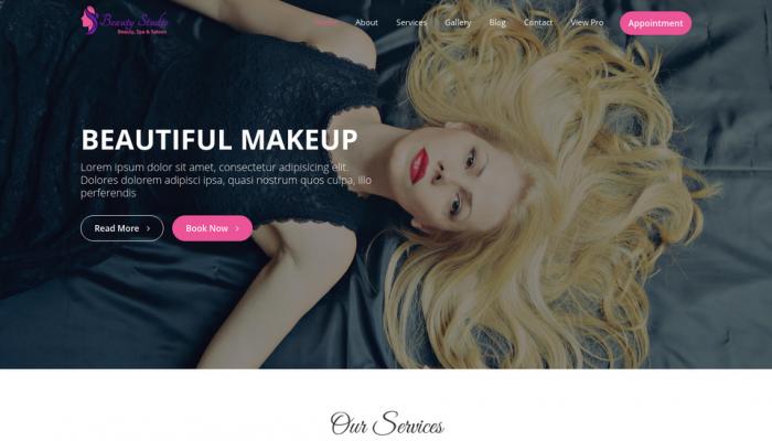 پیش نمایش دسکتاپ قالب وردپرس Beauty Studio