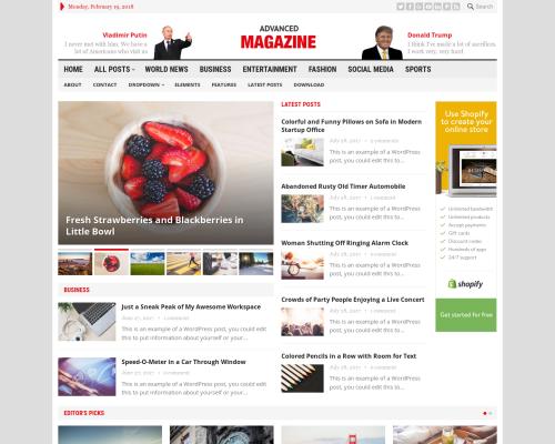 دانلود رایگان قالب وردپرس Advanced Magazine