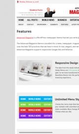 پیش نمایش موبایل قالب وردپرس Advanced Magazine