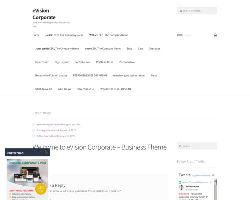 دانلود رایگان قالب وردپرس eVision corporate
