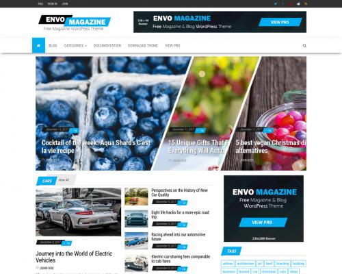 دانلود رایگان قالب وردپرس Envo Magazine