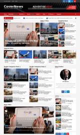 پیش نمایش موبایل قالب وردپرس CoverNews
