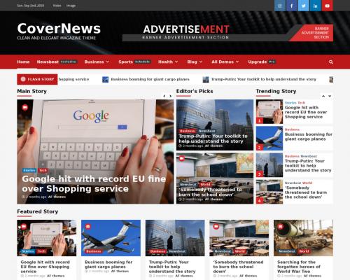 دانلود رایگان قالب وردپرس CoverNews