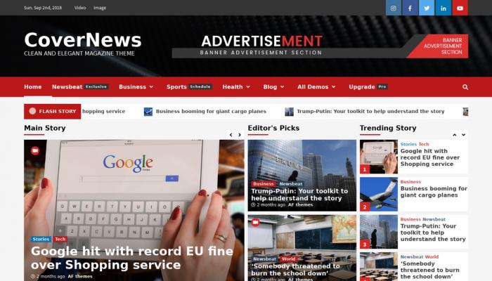 پیش نمایش دسکتاپ قالب وردپرس CoverNews