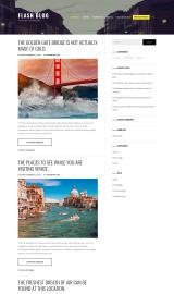 پیش نمایش موبایل قالب وردپرس Flash Blog